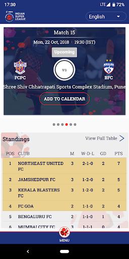 Indian Super League - Official App 7.5 screenshots 1