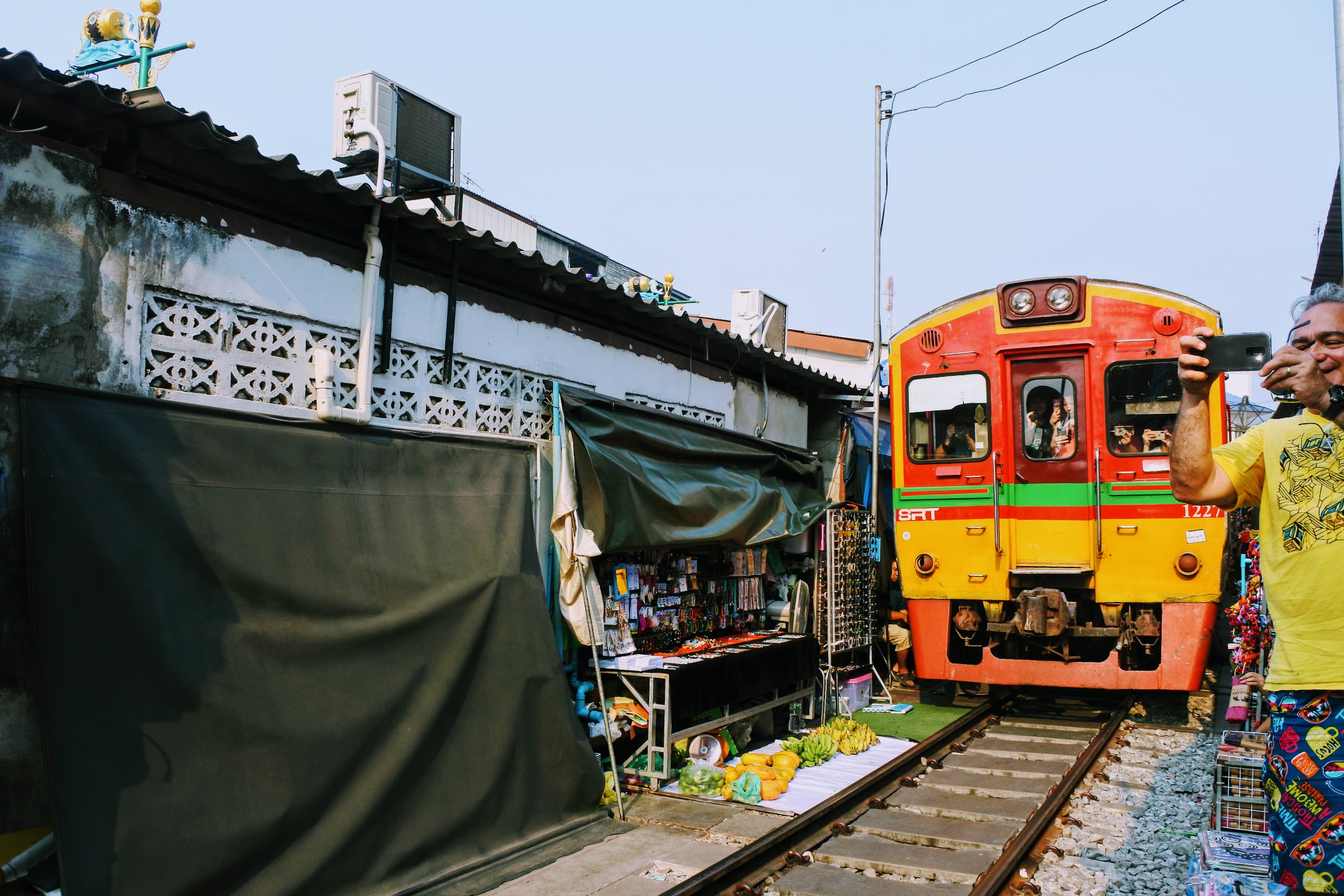 Surreal experience at Maeklong Railway Market