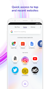 Opera Touch the fast, new browser with Flow 2