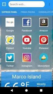 Juno Browser - náhled