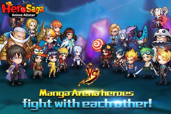 android Hero Saga - Anime Melee Game Screenshot 0