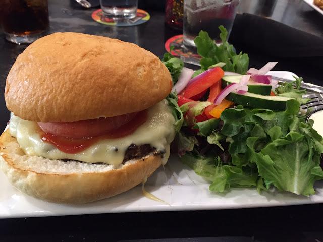 Gf Cheeseburger and salad w ranch