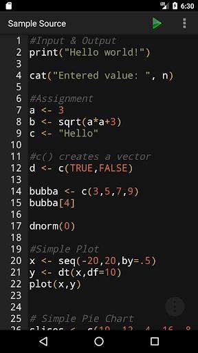R Programming Compiler screenshot 1