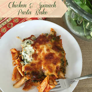 Chicken & Spinach Pasta Bake.