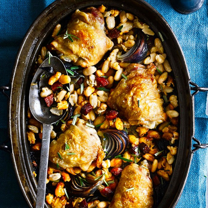 One-Pot Chicken with Cannellini Beans and Chorizo Recipe