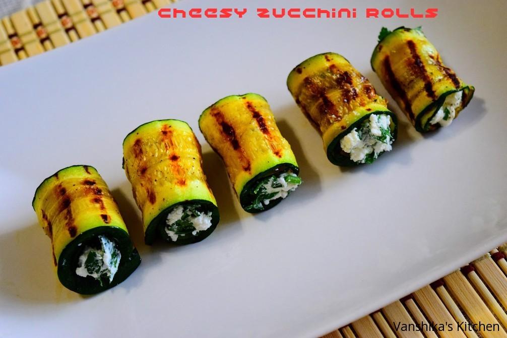 Zucchini Cheese Rolls