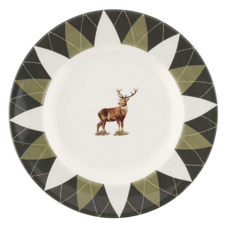 Glen Lodge Stag Plate 15cm