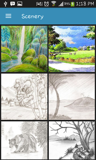 Drawing Scenery Landscapes screenshots 1