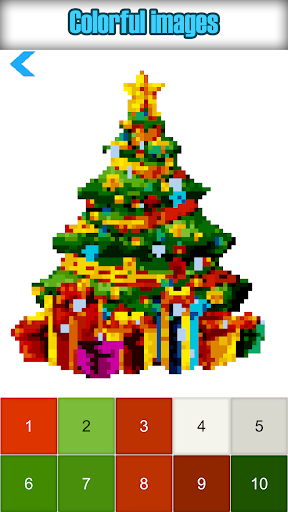 Christmas Color by Number Pixelart Sandbox Color - screenshot