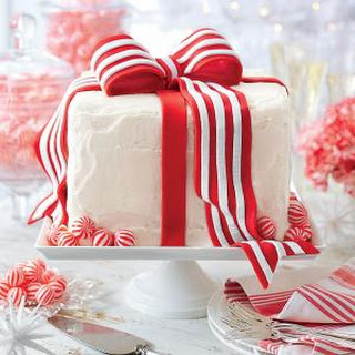 White Cake with Peppermint Frosting