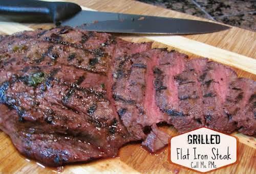 """Orange & Jalapeno Marinated Grilled Flat Iron Steak """"Orange & Jalapeno Marinated..."""