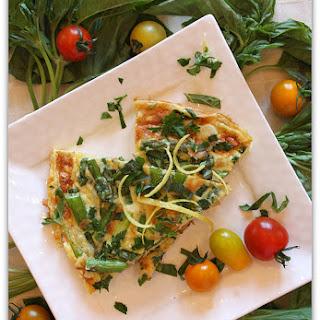 Asparagus and Basil Frittata