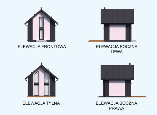 Lido dom letniskowy z antresolą - Elewacje
