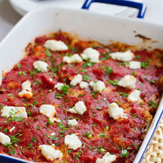 Baked Cauliflower Casserole with Goat Cheese Recipe