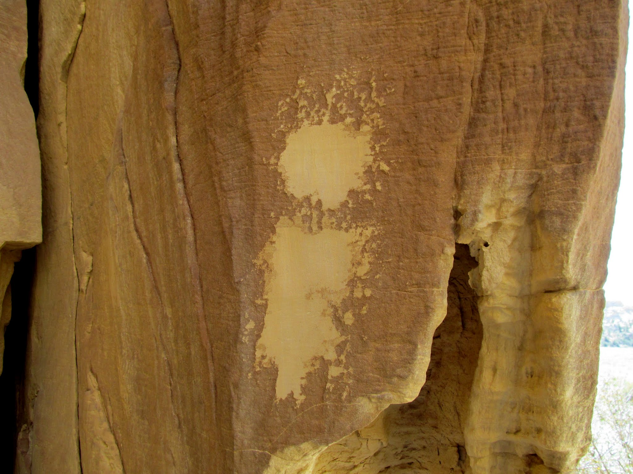 Photo: Abraded cliff face