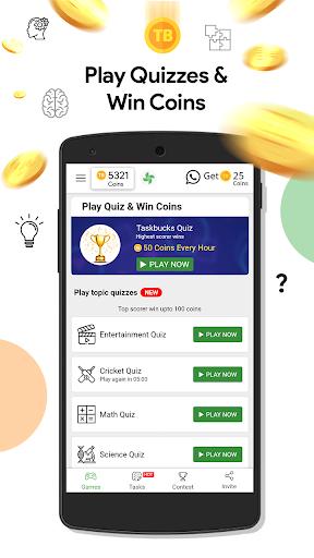 Play Quiz: Get Coins,Wallet Cash,Talktime Recharge screenshot 1