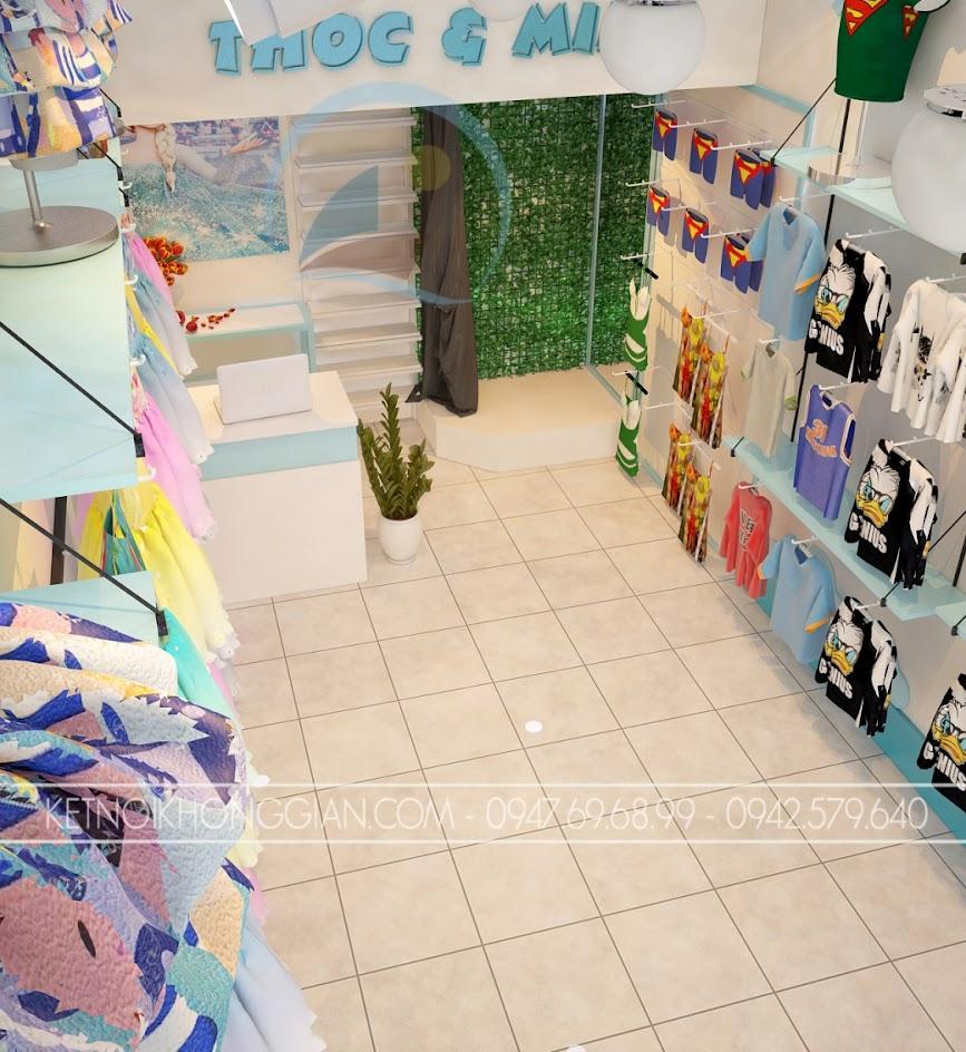 thiết kế cửa hàng thời trang trẻ em nhỏ