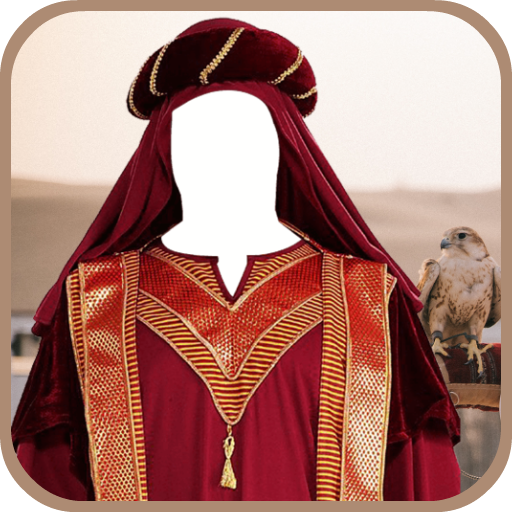 Arab Man Photo Suit Maker Icon