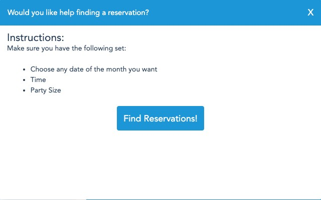 Disneyland Reservation Finder
