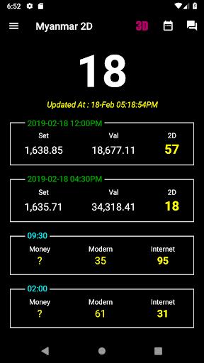 Myanmar 2D/3D Live Update - MMDroidUser 1.2.96 screenshots 1