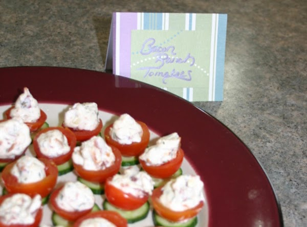 Cherry Tomatoes With Bacon Filling Recipe