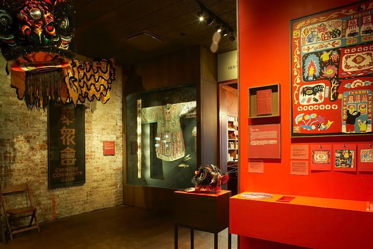 The bright displays of handicrafts and clothing inside MOCA. Photo: Museum of Chinese in America.