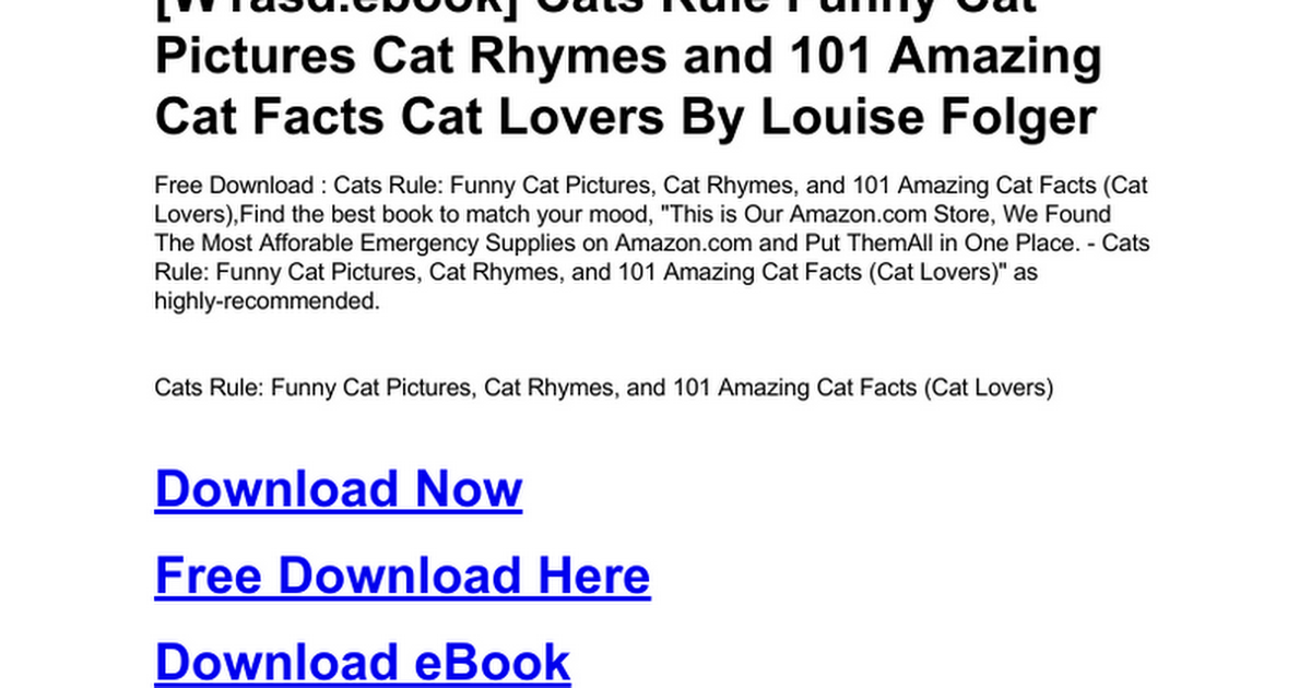 cats rule funny cat pictures cat rhymes and 101 amazing cat facts