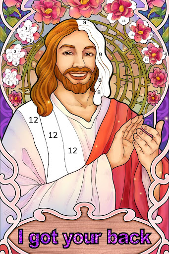 Bible Coloring - Paint by Number, Free Bible Games 2.5.2 screenshots 17