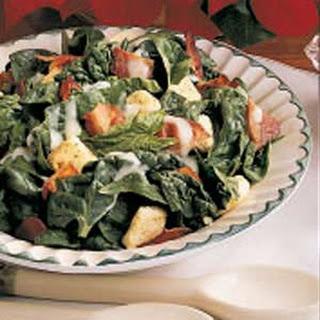 Warm Bacon Spinach Salad