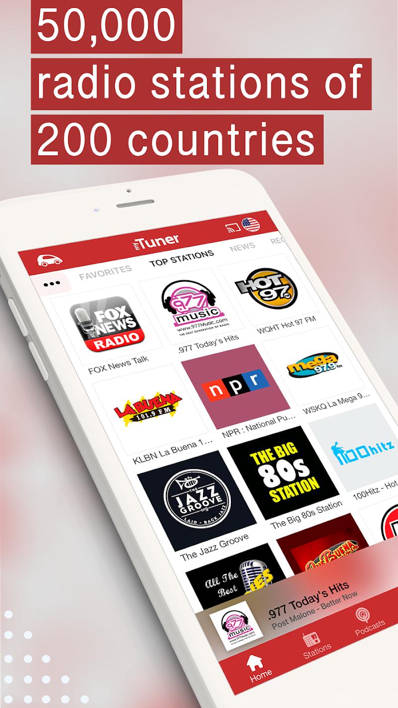myTuner Radio App: FM Radio + Internet Radio Tuner Screenshot 0