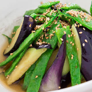 Green Beans and Eggplant Agebitashi.