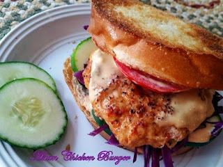 ~ Cassies Awesome Asian Chicken Burgers ~ Recipe