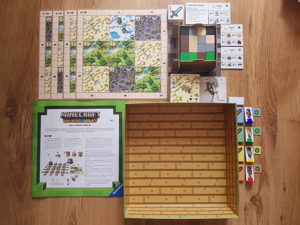 Minecraft - zawartość pudełka