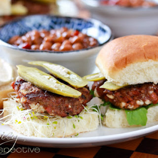 Andouille Blue Cheese Sliders