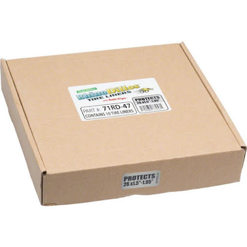 Rhinodillos Tire Liner: 26x1.5-1.95 Silver, Packaged in Bulk Box of 10