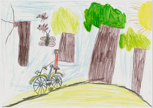 """Photo: praca Maćka """"Jeżdżę rowerem, bo lubię słuchać odgłosów przyrody, szumu wokół mnie i czuć wiatr na twarzy"""""""
