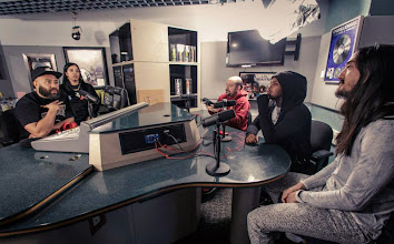 Photo: Talking with my boys from Hot 97 with Waka Flocka about our new collaboration, Rage The Night Away