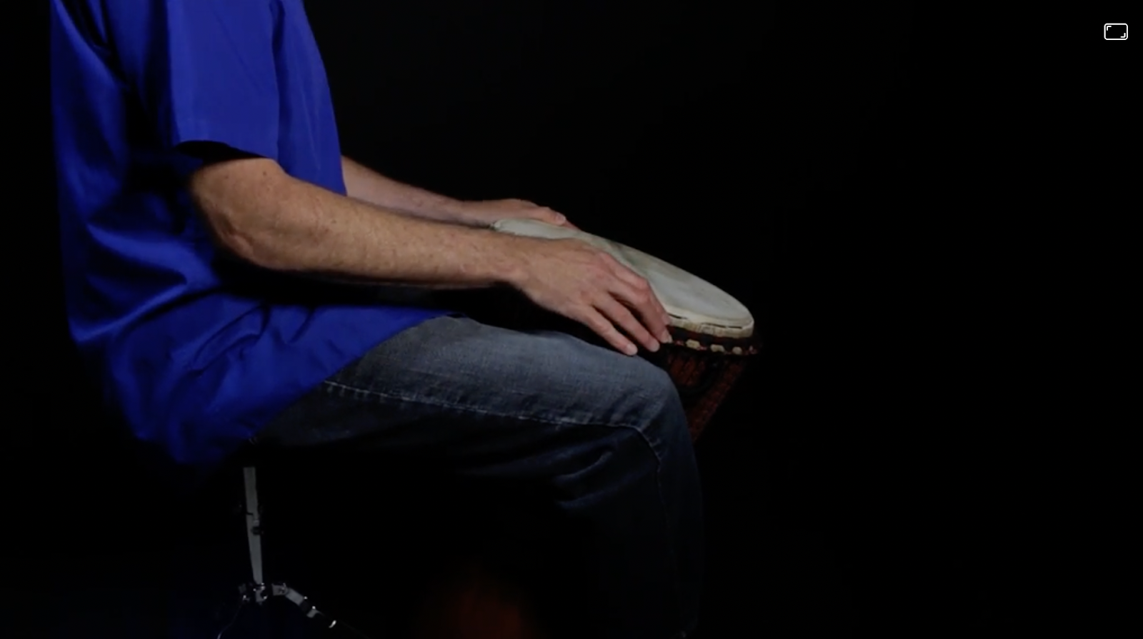 person with drum