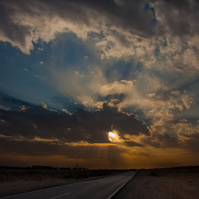 The F-ring road. by Marlon Diwata - Landscapes Deserts