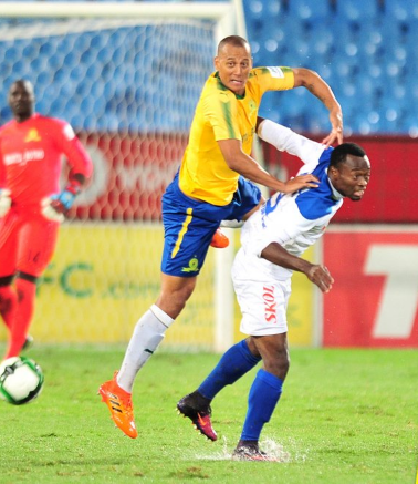 Mamelodi Sundowns' defender Wayne Arendse scored one of the two goals in a 2-0 aggregate with for the South Africans after a goalless draw against Rayon Sports in Rwandan capital Kigali in the fist leg.