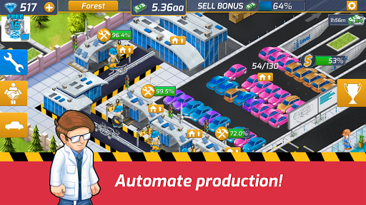 Idle Car Factory: Car Builder, Tycoon Games 2020  captures d'écran 2