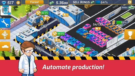 Idle Car Factory Mod Apk 14.1.2 (Free Shopping) 2