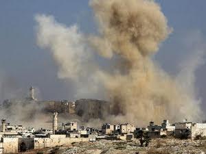Siria - Aleppo bombardata