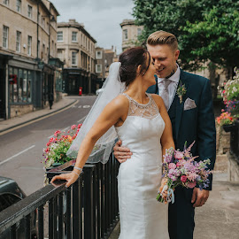 In Love by Barnaby Staniland - Wedding Bride & Groom ( love, steps, boho, natural, classic )