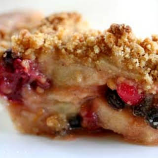 Apple Cranberry Currant Crumble Pie.