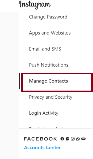 Delete Personal Contacts from Instagram Account