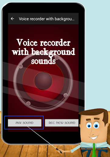 Voice with background sounds
