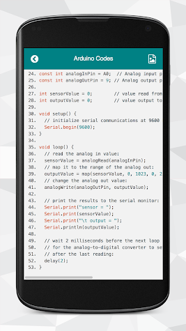 Arduino Codes Screenshot