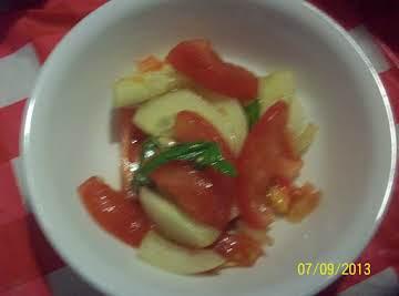 Tomato, cucumber salad