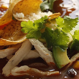 Mexican Chicken Soup With Nachos
